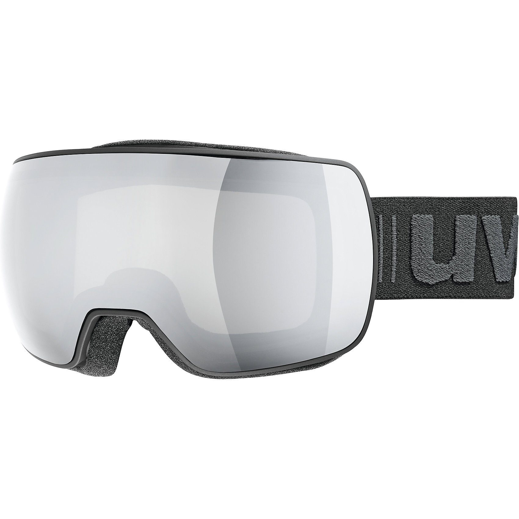 Uvex Skibrille compact LM, black mat dl/mirror silver