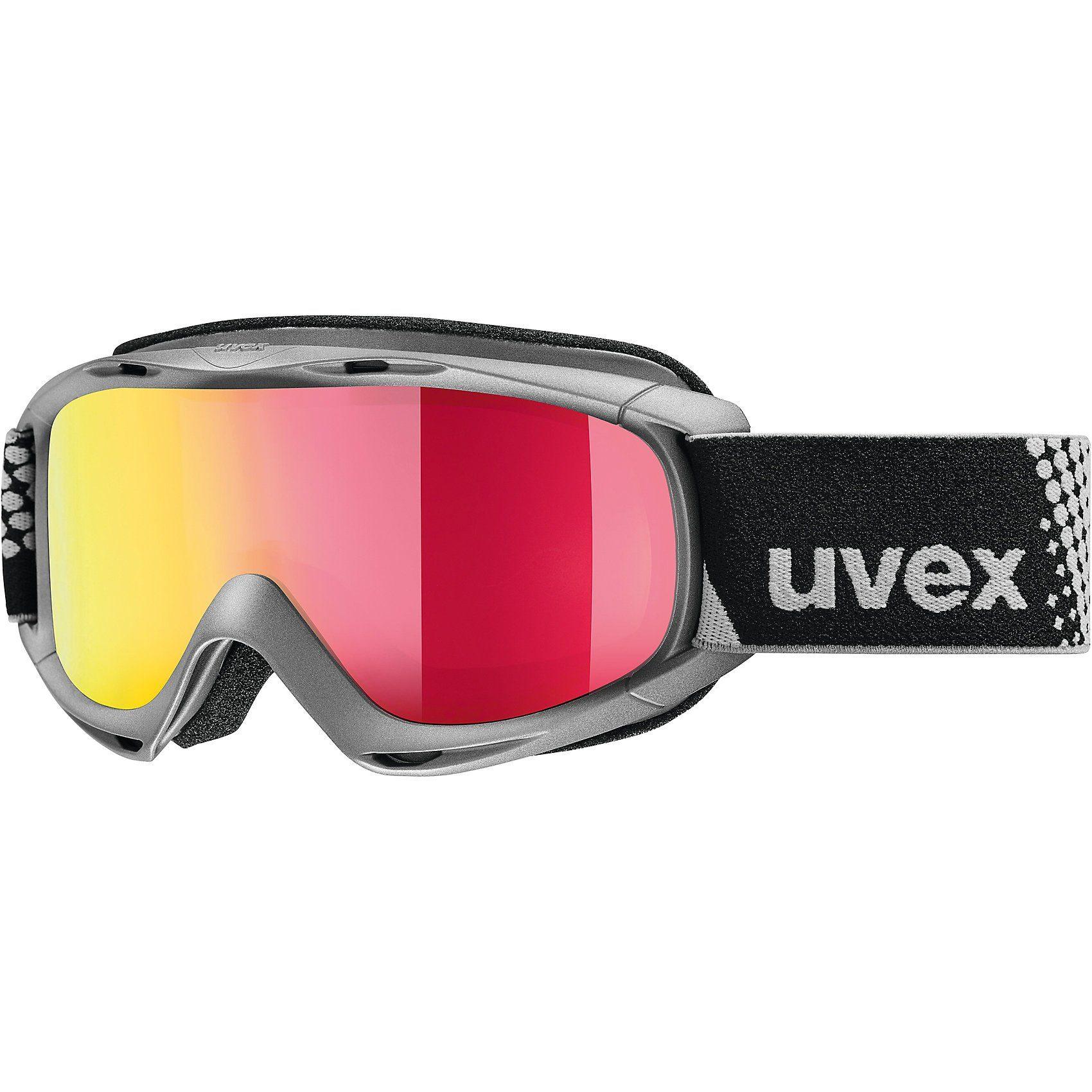 Uvex Skibrille slider FM, anthracite dl/red-lgl