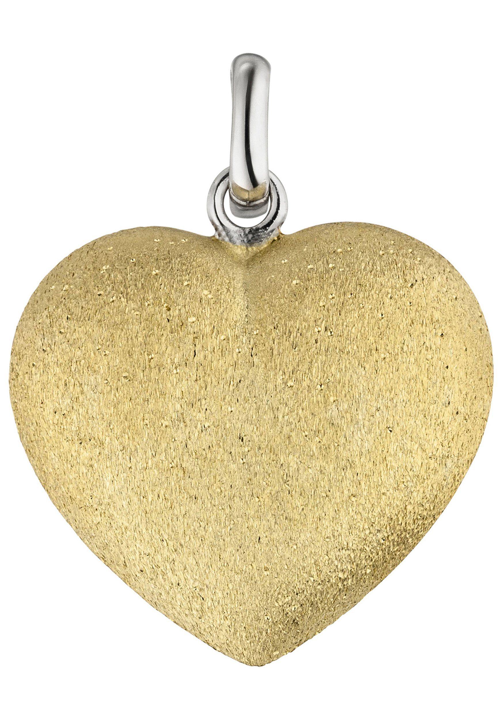 JOBO Herzanhänger »Herz« 925 Silber bicolor vergoldet