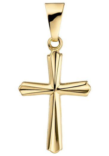 JOBO Kreuzanhänger »Kreuz«, 375 Gold