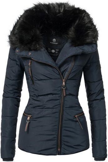 Marikoo Steppjacke »Marta« modische Damen Winterjacke mit asymmetrischem Reißverschluss
