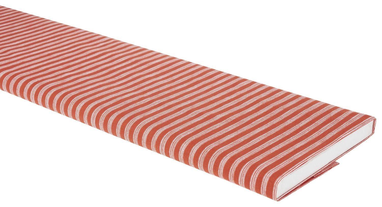 """Zweigart Baumwoll-Stoff """"Nautical Stripes Orange"""" 115cm breit (Meterware)"""