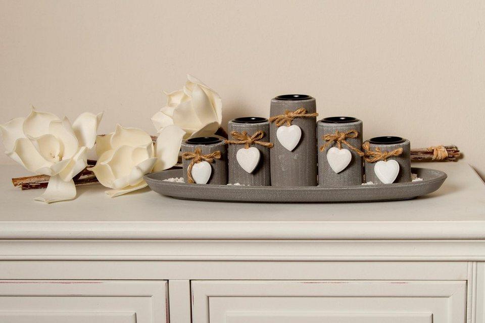 home affaire teelichthalter mit tablett tabea otto. Black Bedroom Furniture Sets. Home Design Ideas