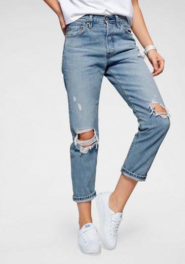 Levi's® Destroyed-Jeans »501« Verkürzte Form mit Destroyed-Effekten