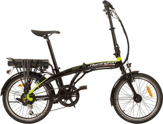 Remington E-Bike »Urban Folder«, 7 Gang Shimano, Kettenschaltung, Mittelmotor 250 W