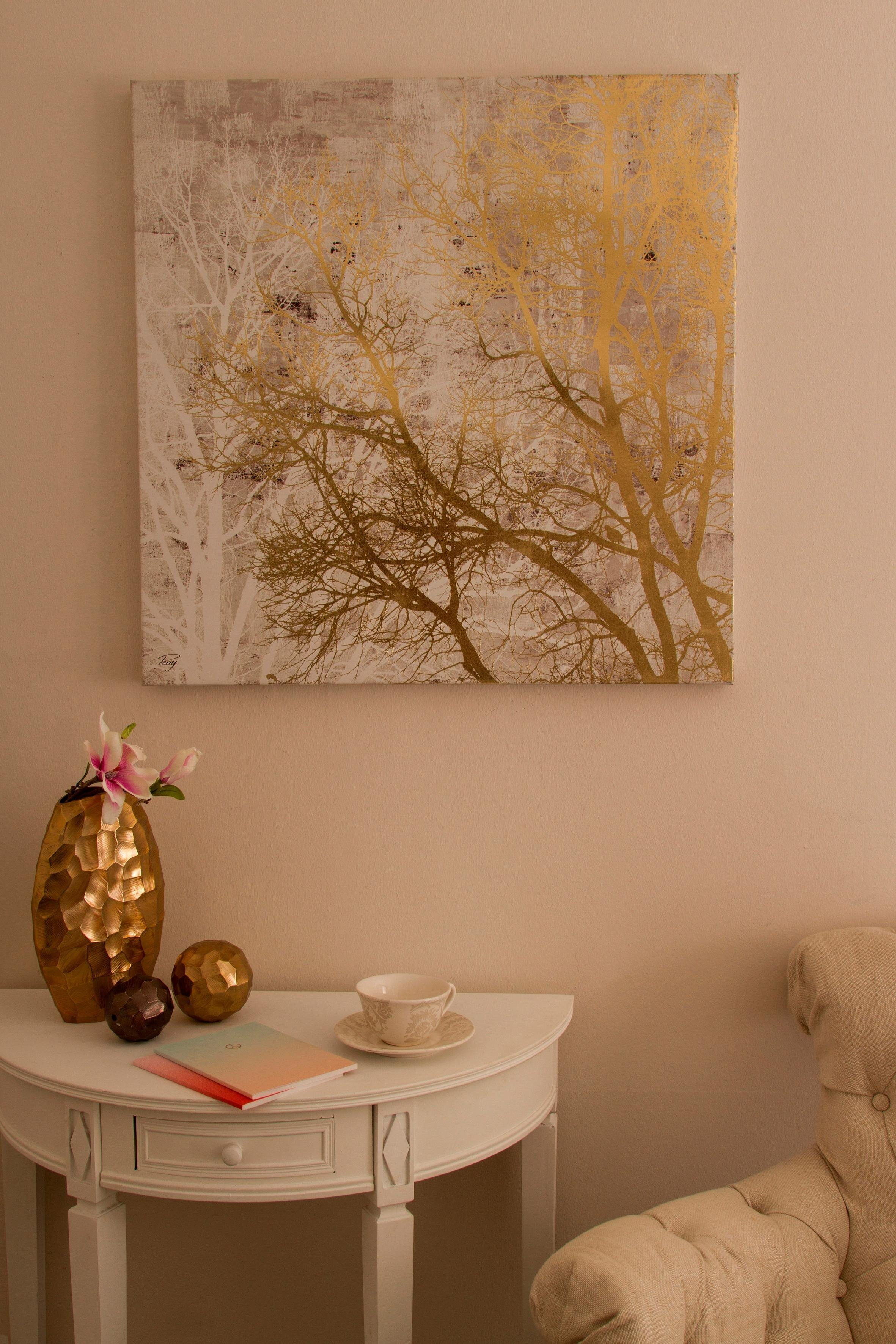 Home affaire Ölbild »Baum gold«