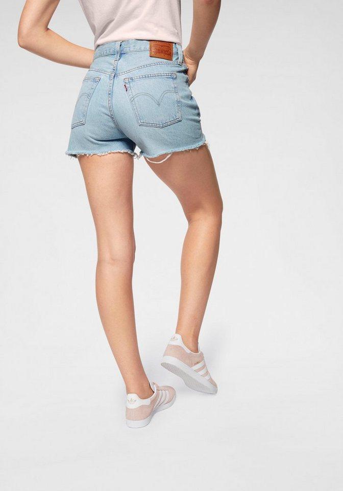fc27ad3f1e0fb Levi's® Shorts »501 HighRise« mit offenem Fransen-Saum online kaufen | OTTO