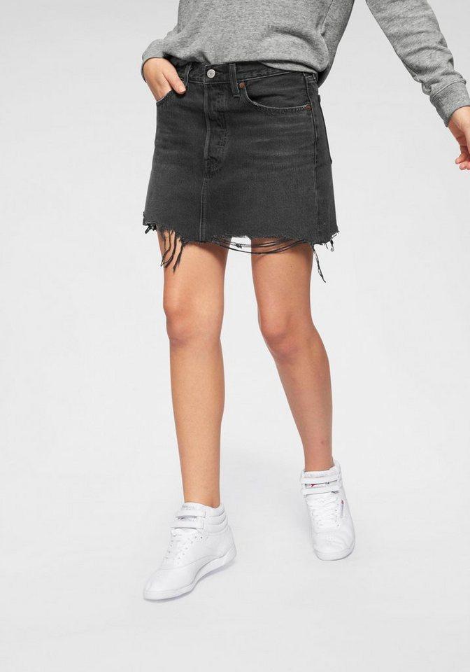 levi´s® -  Jeansrock »Deconstructed Skirt« Mit leicht ausgefranster Kante