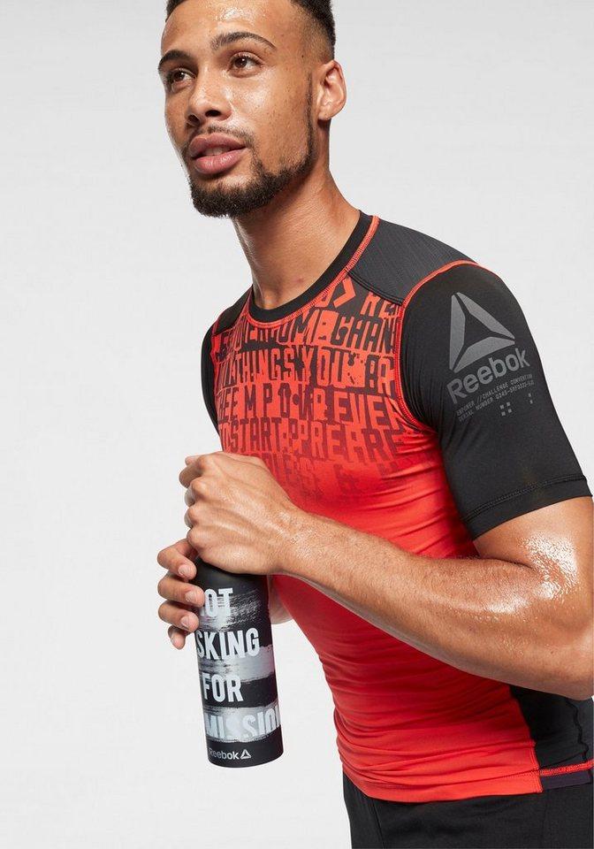 Reebok Funktionsshirt »ACTIVCHILL GRAPHIC COMPRESSION TEE« | Sportbekleidung > Sportshirts > Funktionsshirts | Orange | Reebok