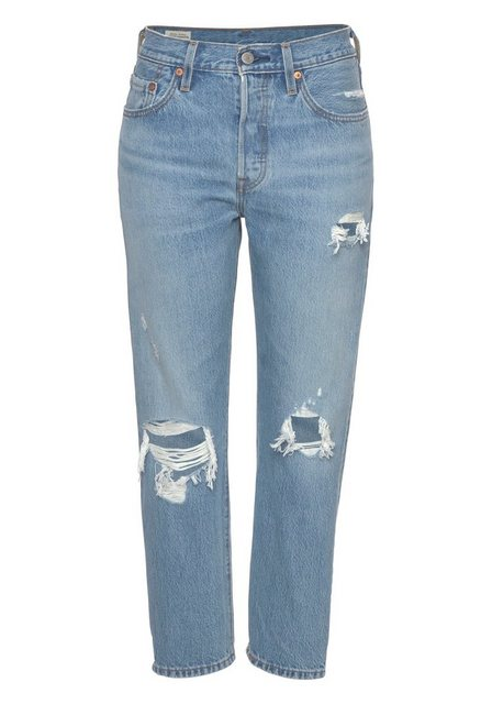 Levi's® Destroyed-Jeans »501« Verkürzte Form mit Destroyed-Effekten | Bekleidung > Jeans > Destroyed Jeans | Levi's®