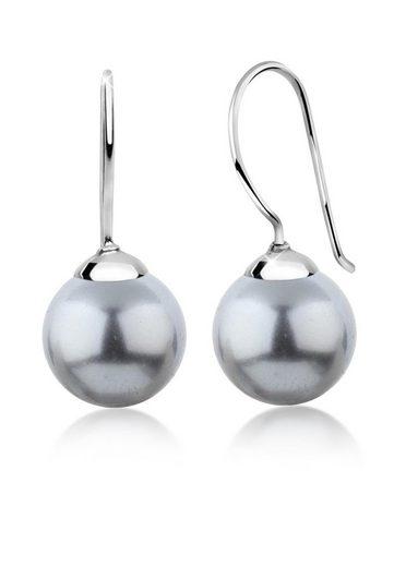 Nenalina Paar Ohrhänger »Hänger Basic Synthetische Perle 925 Silber«