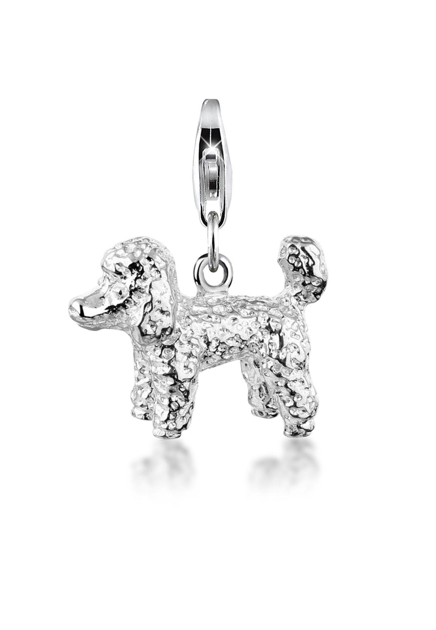 Nenalina Charm-Einhänger »Pudel Hund Anhänger 925 Sterling Silber«