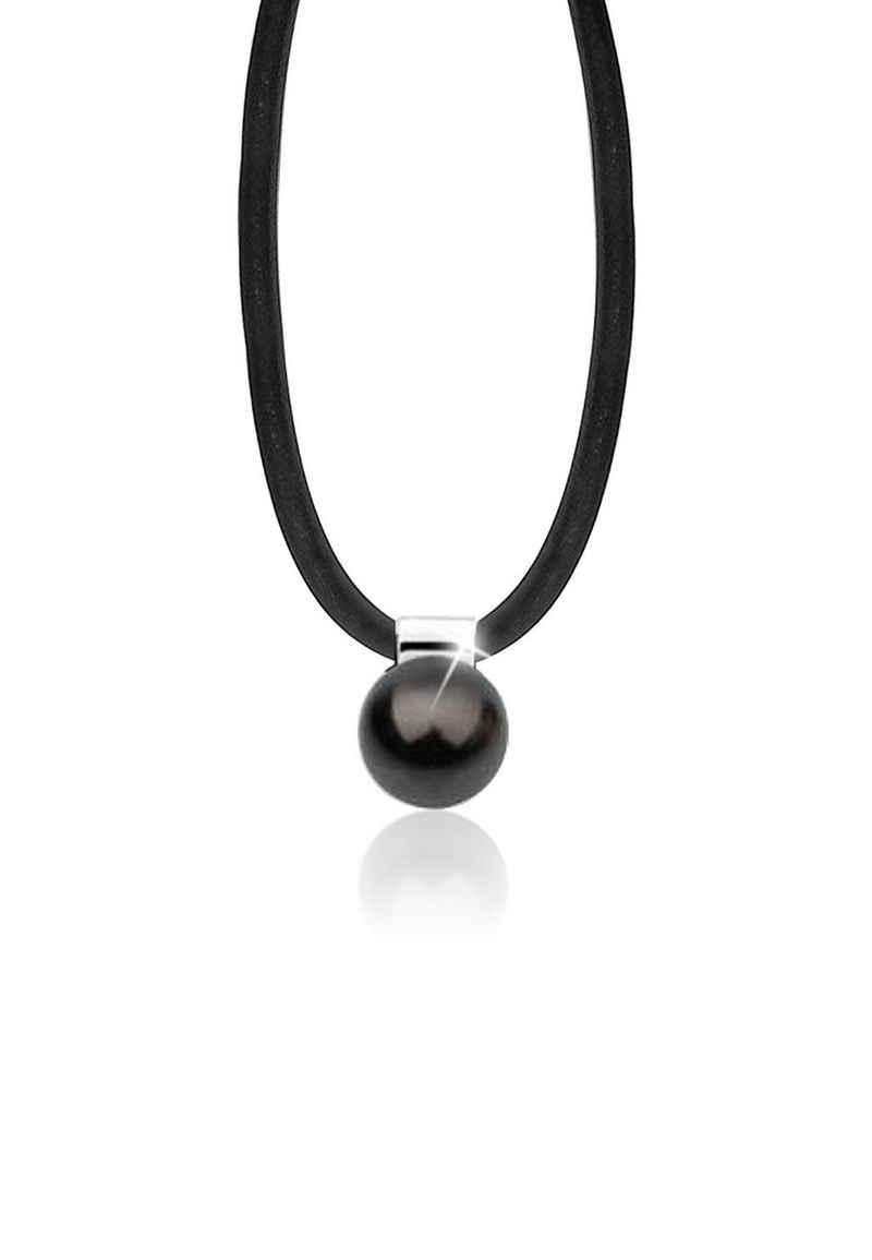 Nenalina Perlenkette »Kautschuk Synthetische Perle 925 Silber«