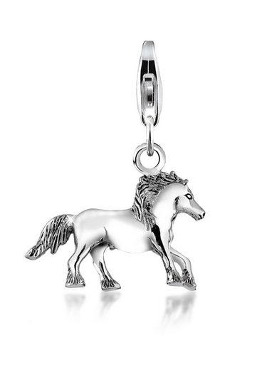 Nenalina Charm-Einhänger »Pferd Tier Anhänger 925 Silber«