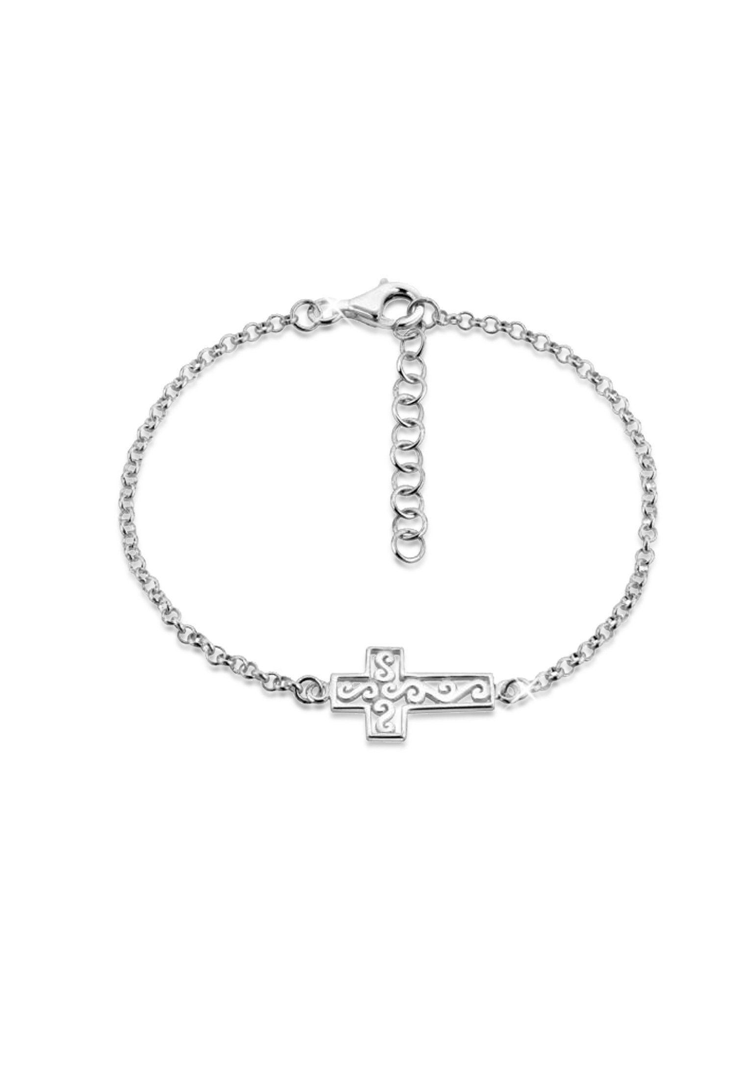Nenalina Armband »Kreuz Cross Ornament Anhänger Modern 925 Silber«