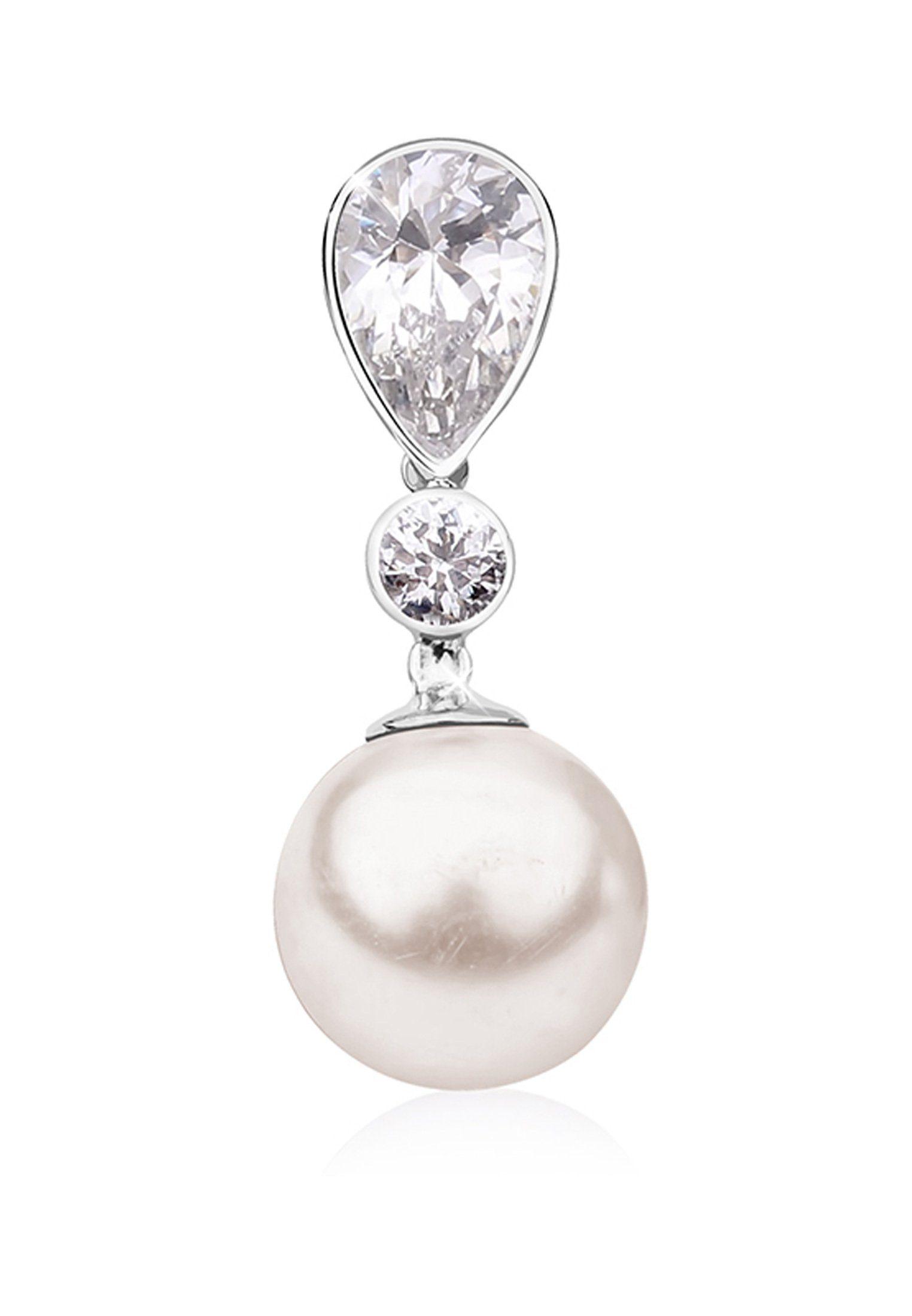 Nenalina Kettenanhänger »Zikonia Perle von Swarovski® Kristalle 925 Silber«