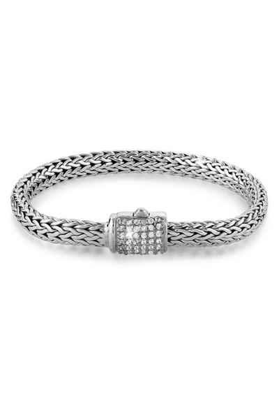 Kuzzoi Armband »Gliederarmband Damen Zirkonia Kristalle 925 Silber«