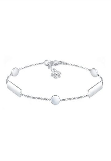 Elli Armband »Geo Formen Minimal Basic Cool Plättchen 925 Silber«