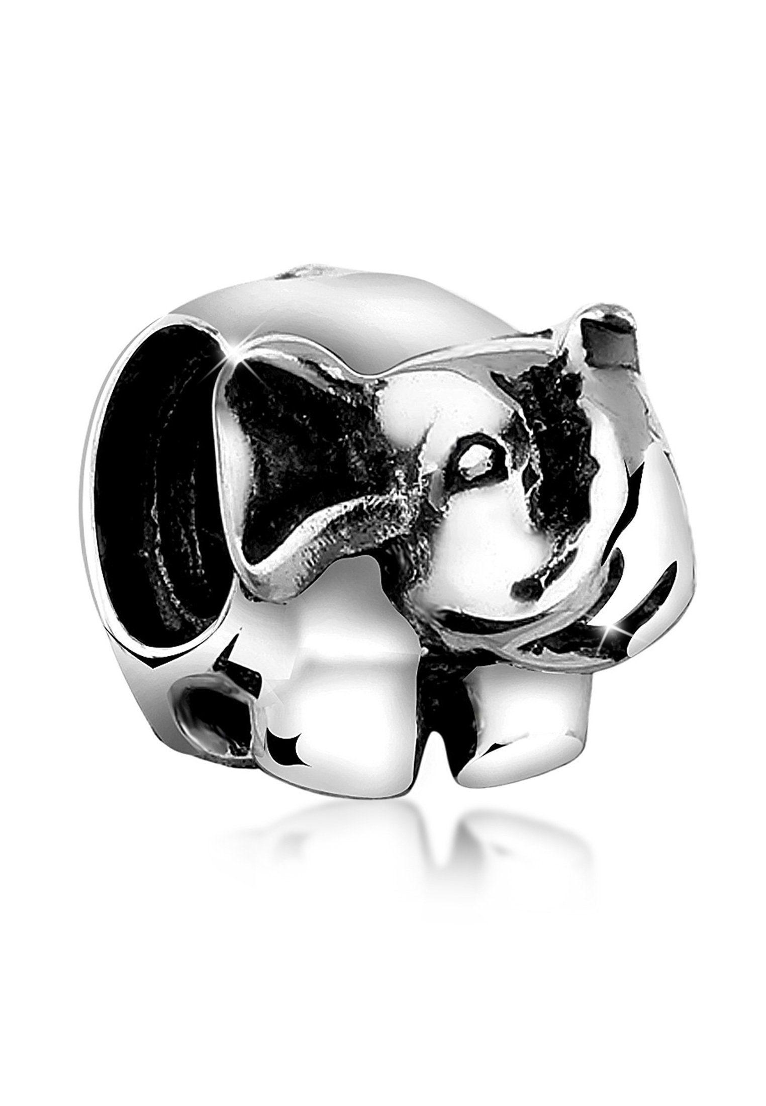 Nenalina Charm-Einhänger »Bead Anhänger Elefant Tier Reise 925er Silber«