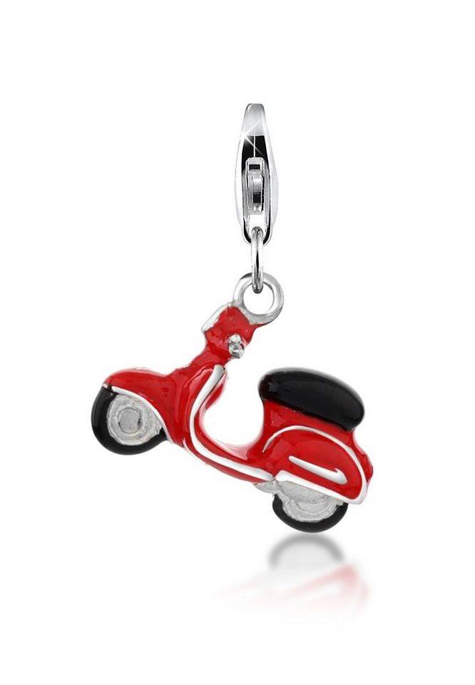 Nenalina Charm-Einhänger »Anhänger Roller Scooter Emaille 925er Silber« | Schmuck > Charms | Nenalina