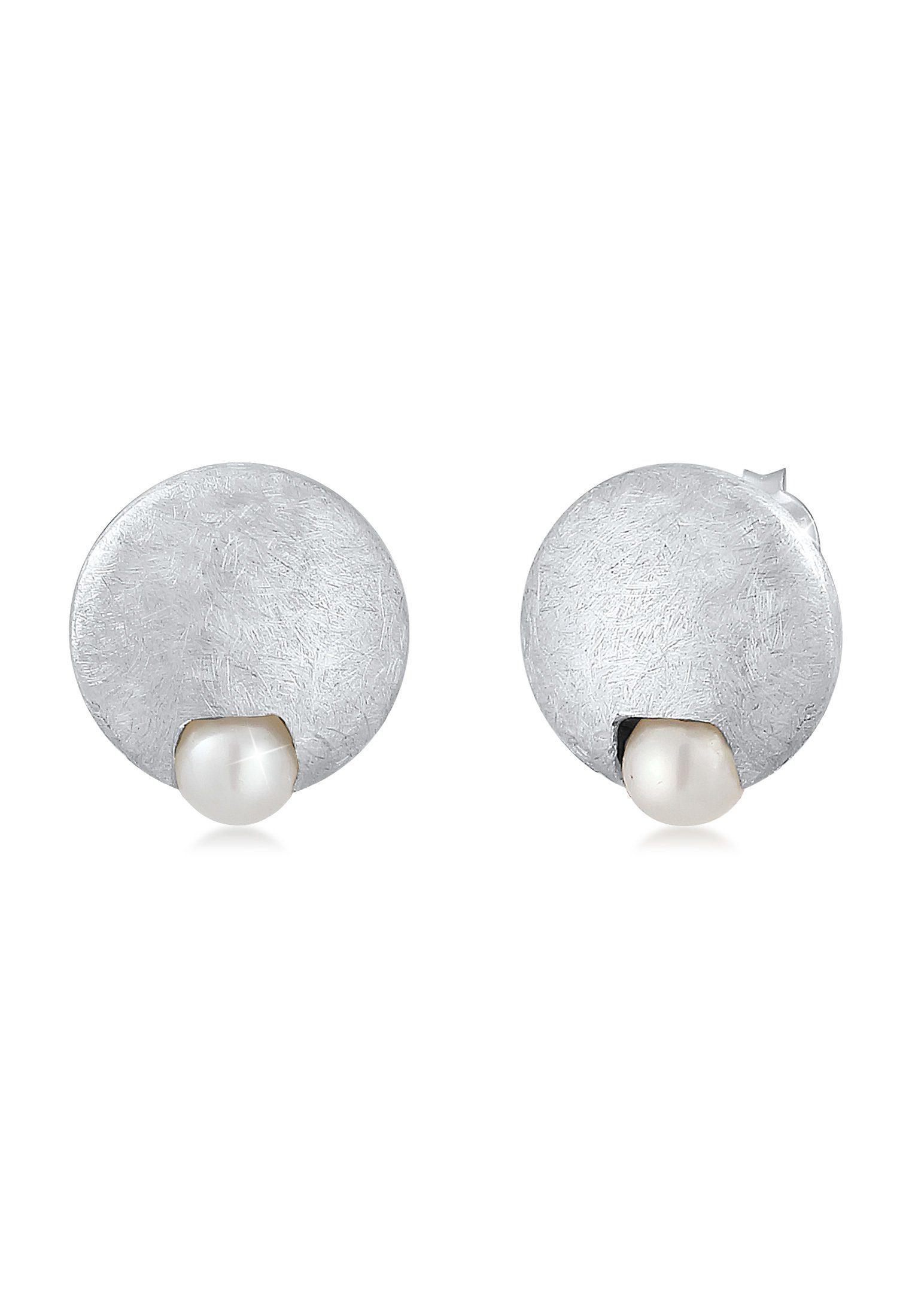 Nenalina Paar Ohrstecker »Stecker Süßwasserzuchtperle Klassisch 925 Silber«