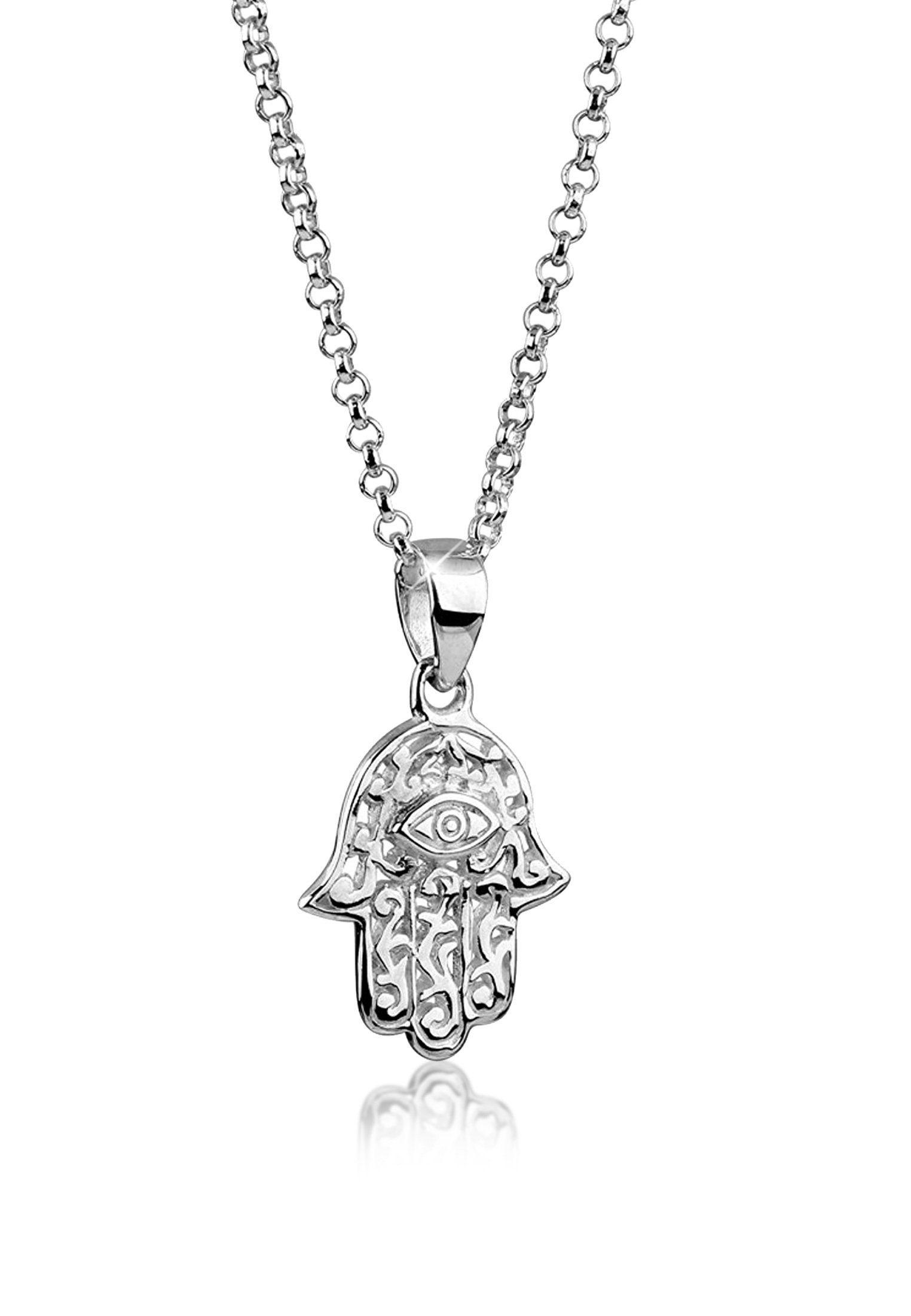 Nenalina Collierkettchen »Hamsa Hand Symbol Ornament Anhänger 925 Silber«