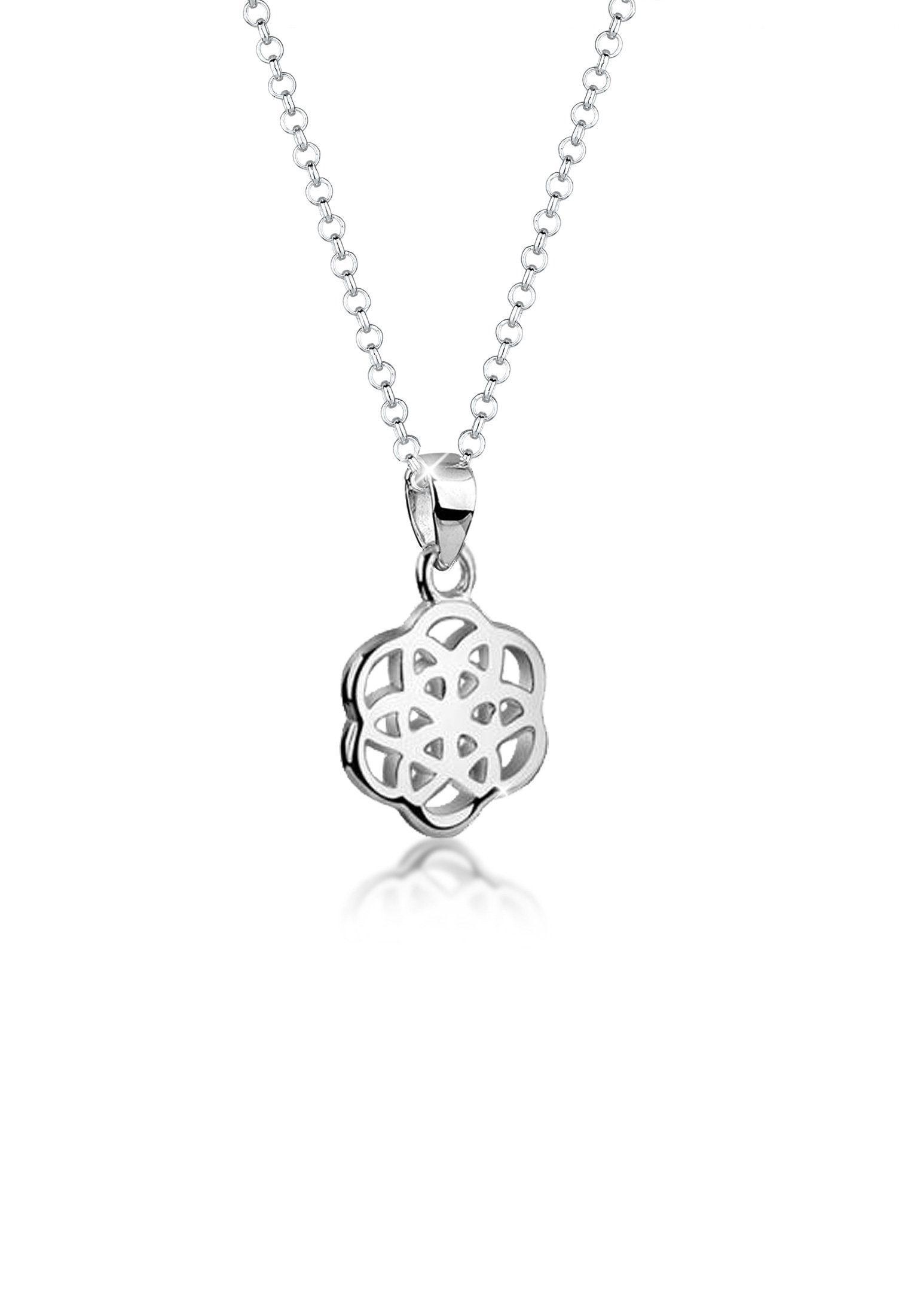 Nenalina Collierkettchen »Lebensblume Floral Ornament 925 Sterling Silber«