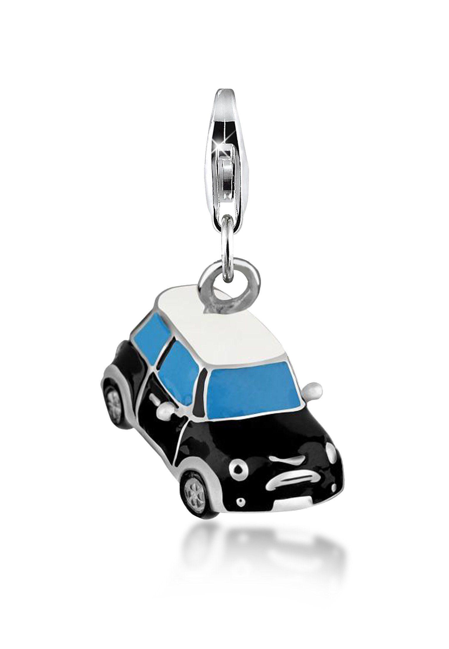 Nenalina Charm-Einhänger »Auto Sportwagen Silber-Anhänger Emaille 925 Silber«