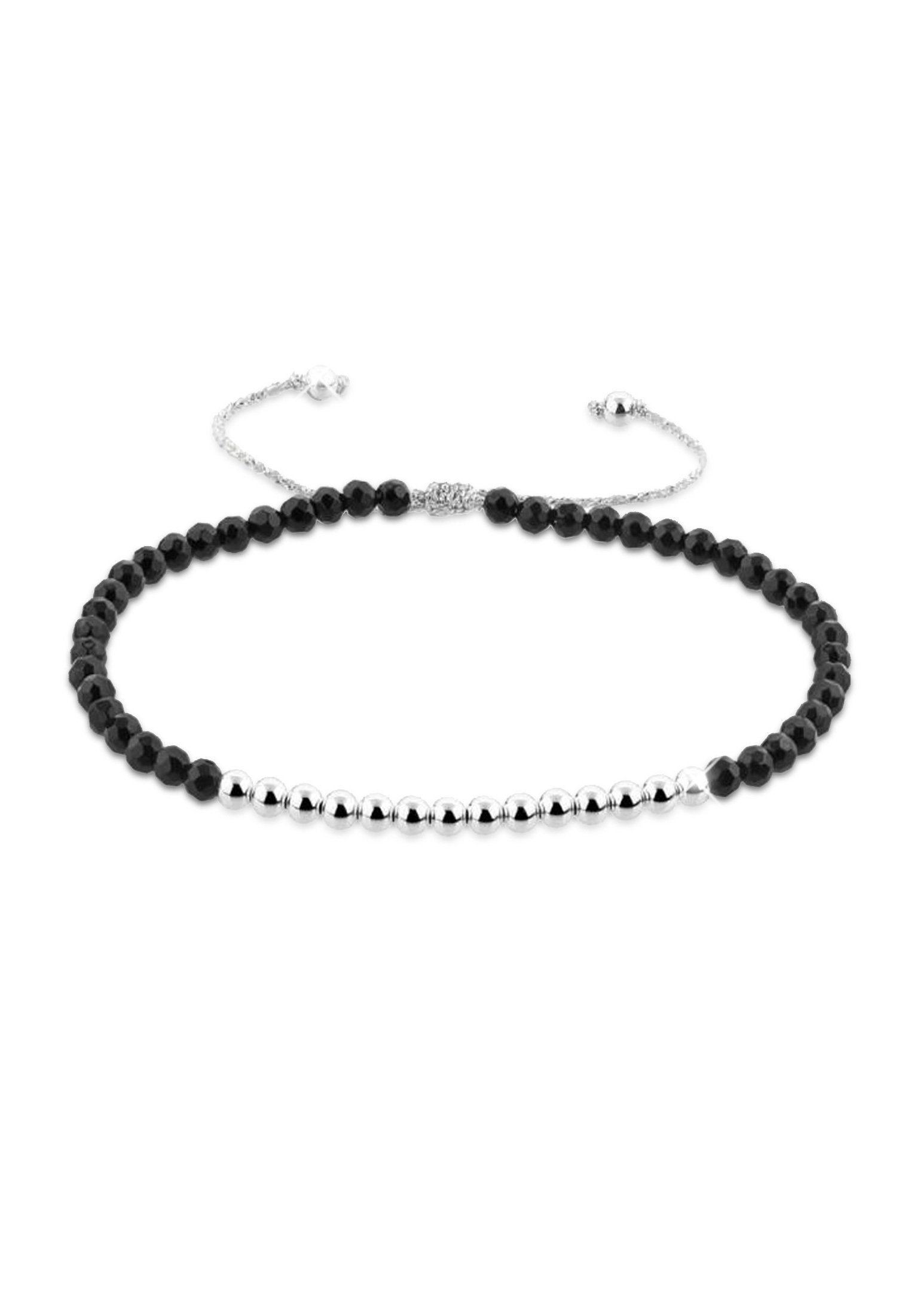 Nenalina Armband »Basic Kugeln Achat Edelstein 925 Sterling Silber«