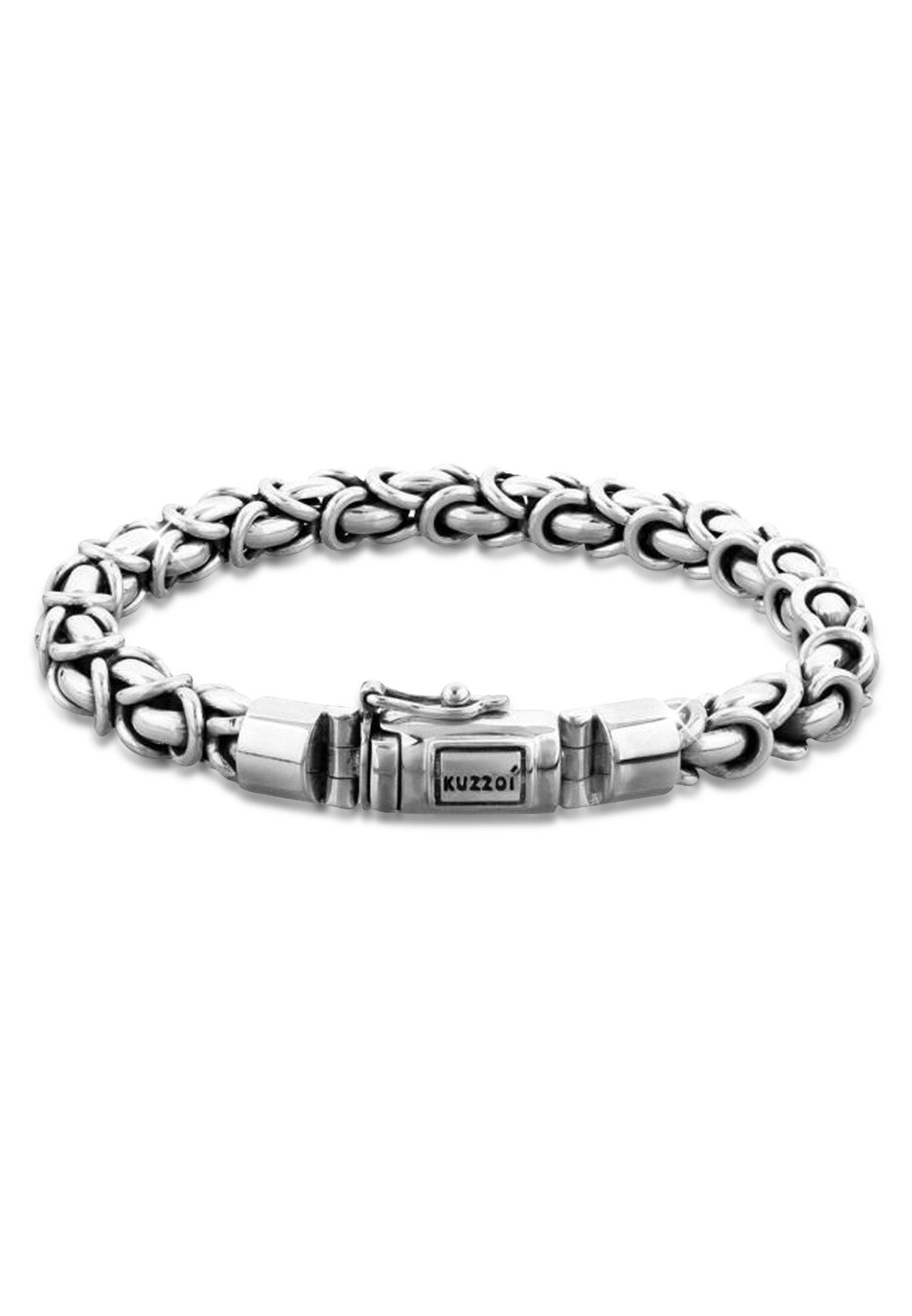 Kuzzoi Armband »Herren Panzerarmband Königskette Basic 925 Silber« online kaufen   OTTO