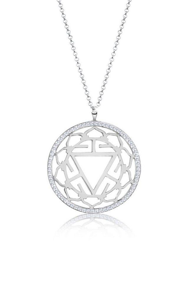 1c6202b78f16 Nenalina Kette mit Anhänger »Solarplexus Chakra Swarovski® Kristalle 925  Silber«