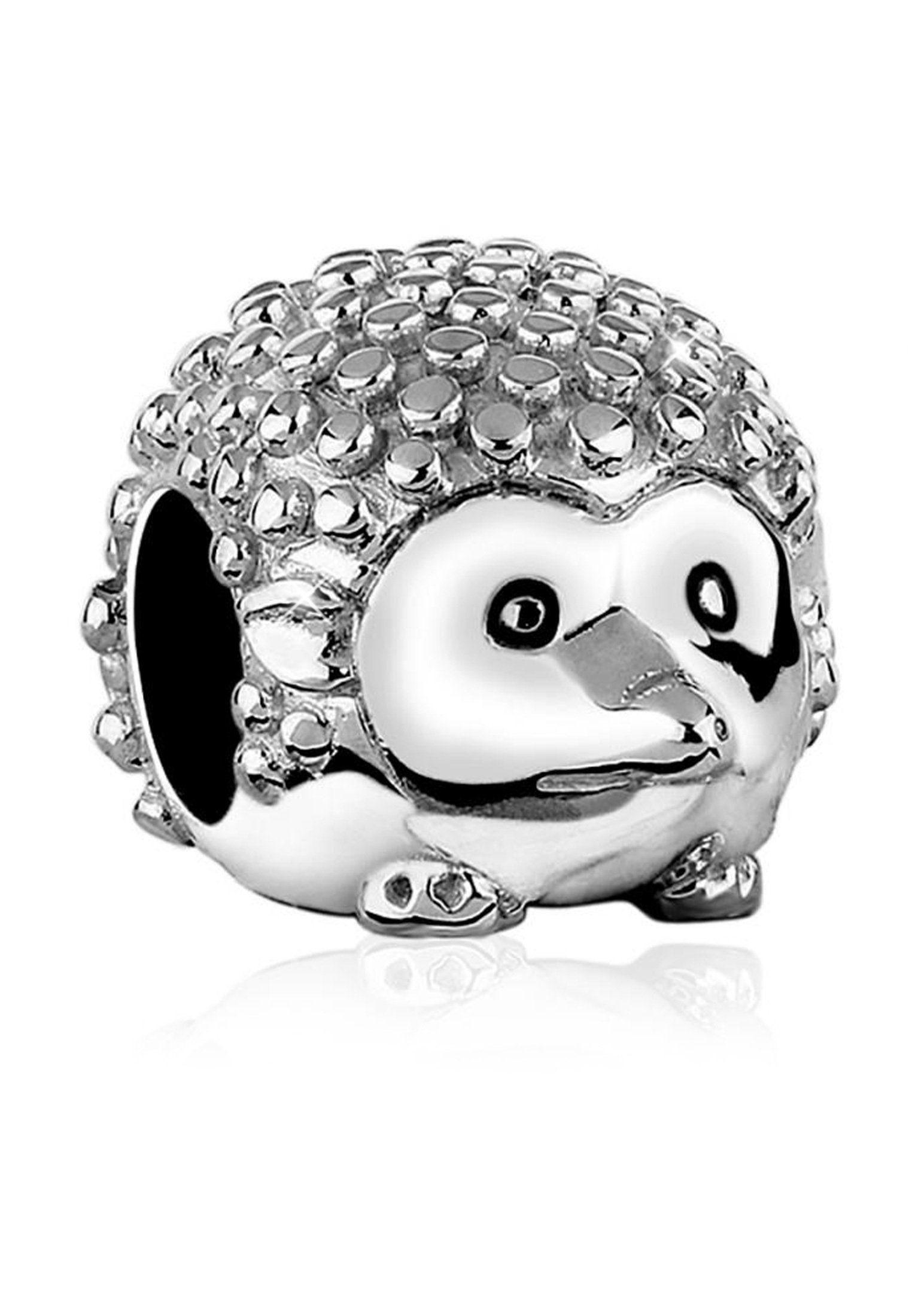 Nenalina Charm-Einhänger »Igel Tier Bead Anhänger 925 Sterling Silber«