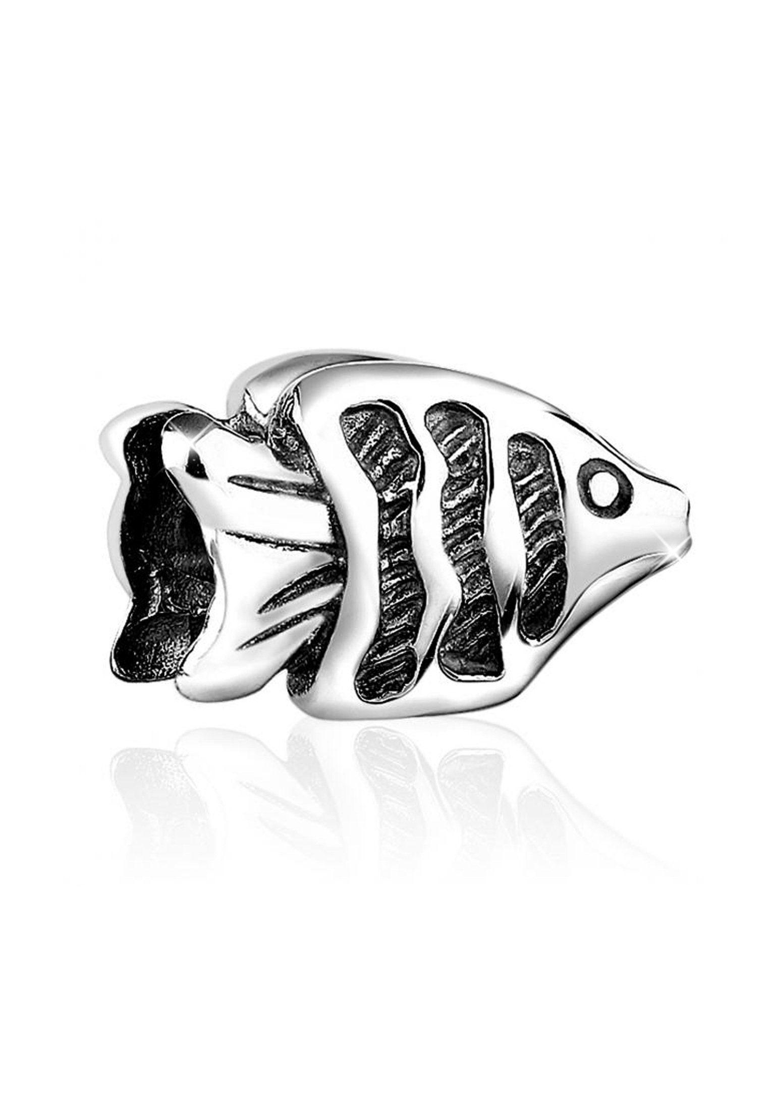 Nenalina Charm-Einhänger »Fisch Meer Bead Anhänger Armband 925er Silber«