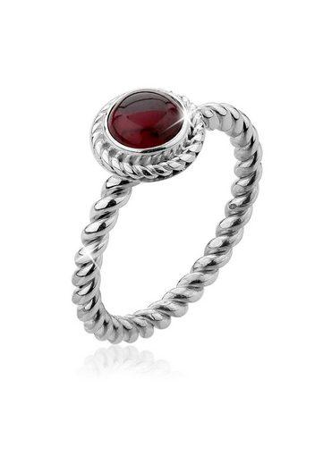 Nenalina Fingerring »Granat Geburtsstein Januar Trend Edel 925 Silber«