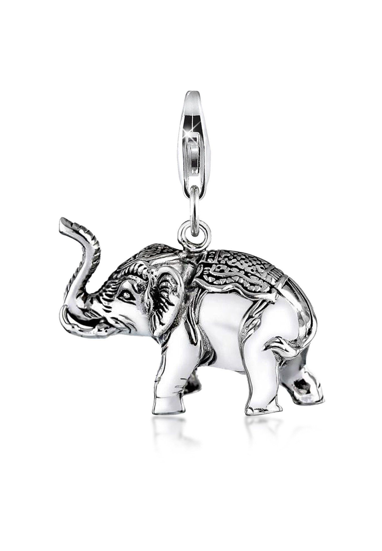 Nenalina Charm-Einhänger »Anhänger Elefant Groß Tier Reise 925 Silber«