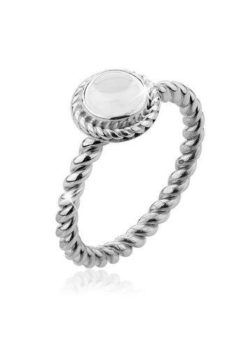 Nenalina Fingerring »Bergkristall Geburtsstein April Trend 925 Silber«