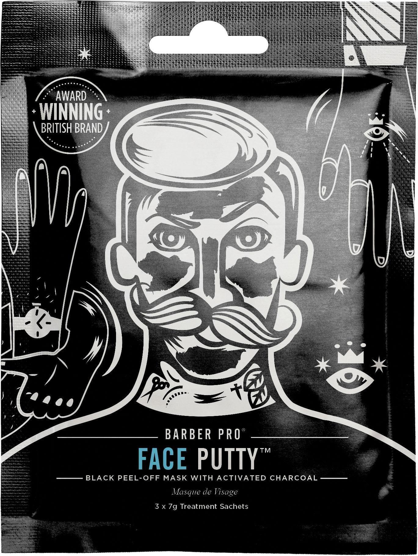 BARBER PRO, »Face Putty™«, Black Peel-Off Reinigungsmaske mit Tiefenwirkung (3-tlg. Set)