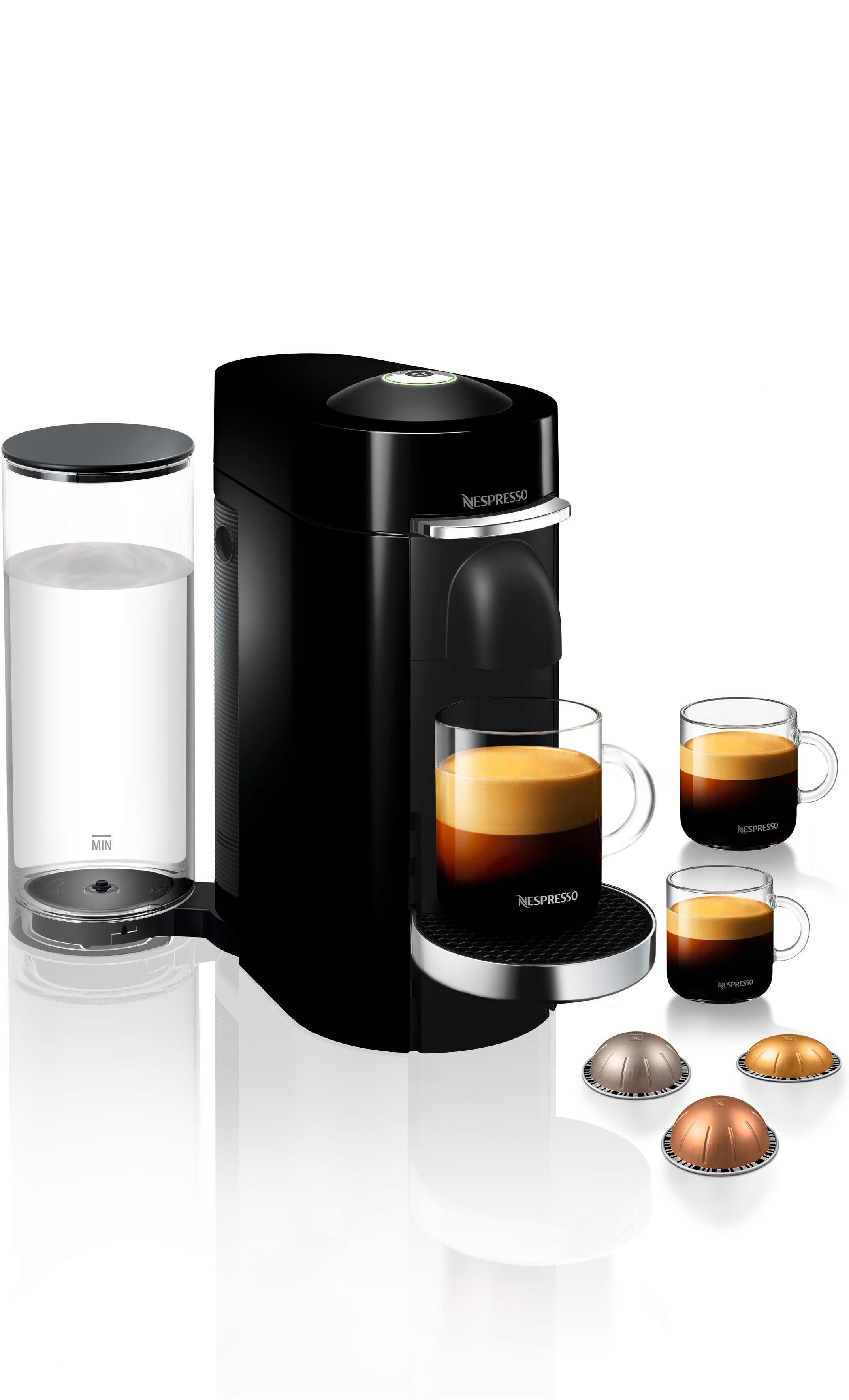 Nespresso Kapselmaschine ENV 155.B Vertuo Plus, mit neuartigem Kapselsystem
