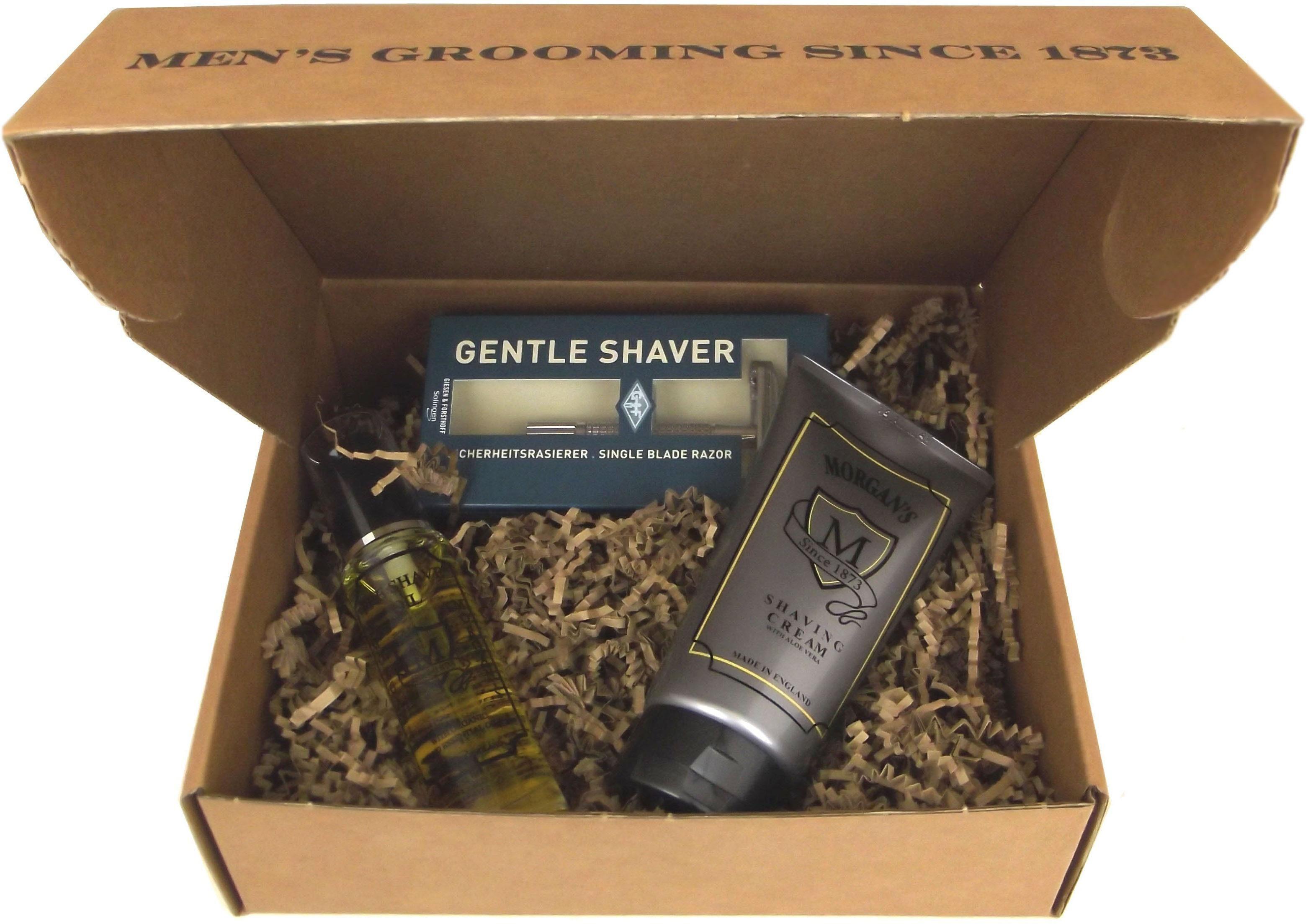 Morgan's Pomade, »Shaving Gift Set«, Komplettes Set für eine sanfte Nassrasur (3-tlg.)