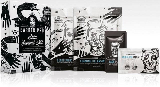BARBER PRO Gesichtsmasken-Set »Skin Revival Kit« Set, 4-tlg.