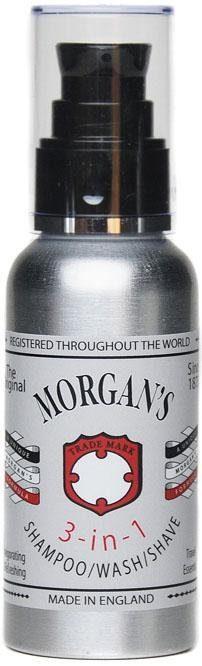 Morgan's Haarshampoo »3-in-1 Shampoo/Wash/Shave«