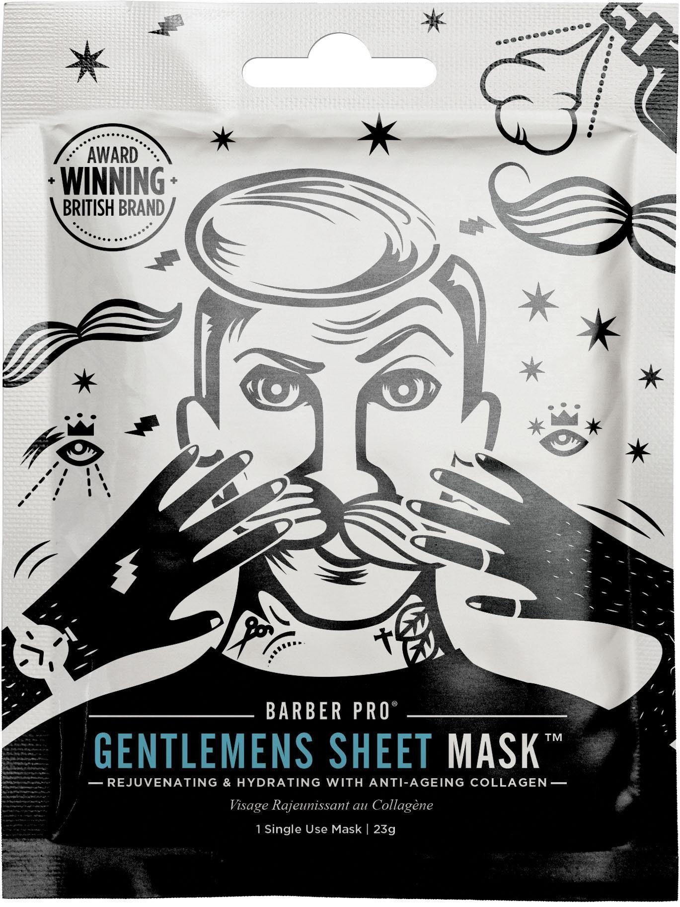 BARBER PRO, »GENTLEMEN'S SHEET MASK™«, Pflege und anti-aging Maske