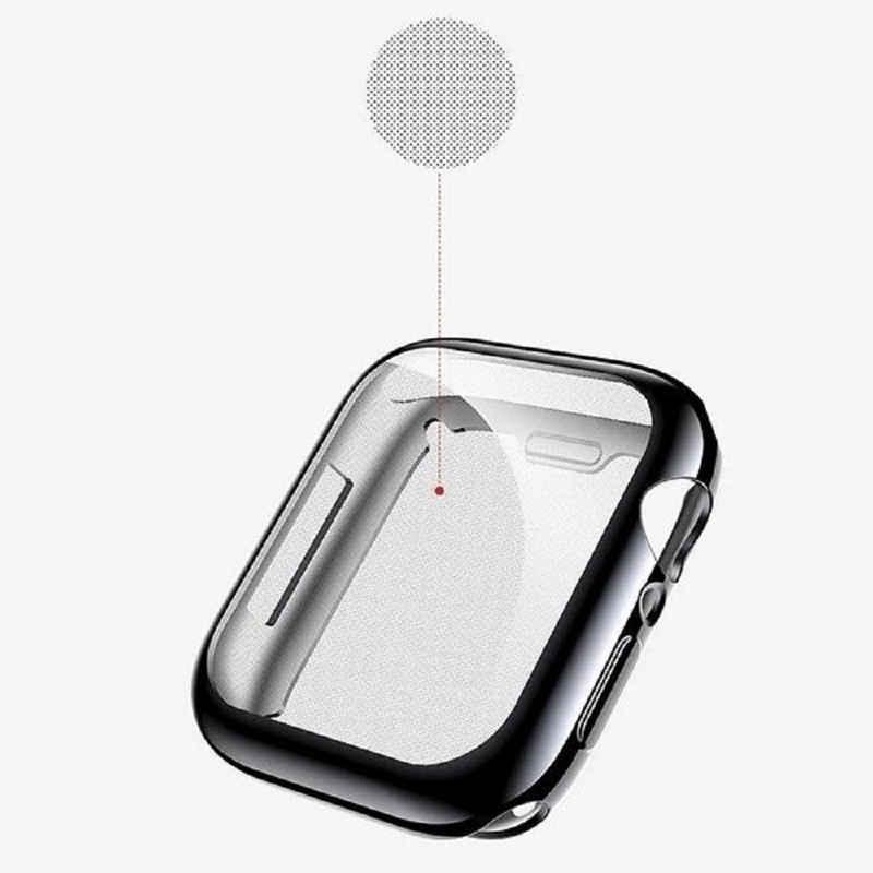 cofi1453 Smartwatch-Hülle »Silikon Hülle kompatibel mit Apple Watch Series 4 40mm TPU Gehäuse Schutz Zubehör« Apple Watch Series 4 44mm