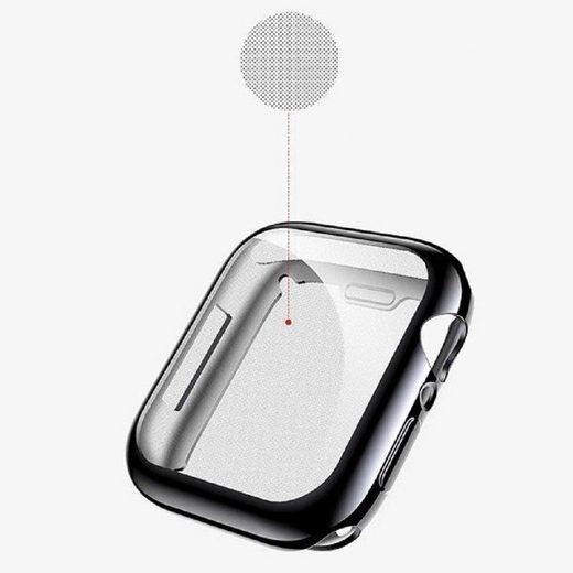 cofi1453 Smartwatch-Hülle »Silikon Hülle kompatibel mit Apple Watch Series 4 40mm TPU Gehäuse Schutz Zubehör« Apple Watch Series 4 40mm