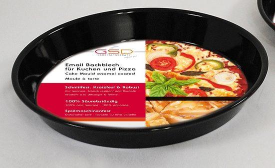 GSD HAUSHALTSGERÄTE Backblech, Emaille, für Kuchen und Pizza