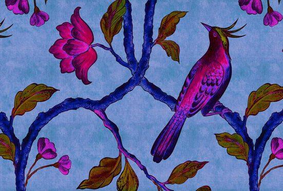 living walls Fototapete »Walls by Patel Bird Of Paradise 1«, glatt, (4 St)