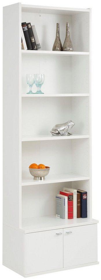 home affaire b cherregal dana mit 2 kleinen holzt ren gesamth he 217 cm online kaufen otto. Black Bedroom Furniture Sets. Home Design Ideas