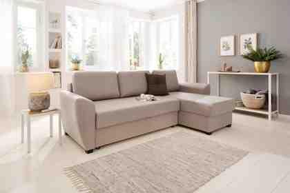 Home affaire Polsterecke »Quin« mit Bettfunktion und Zierkissen