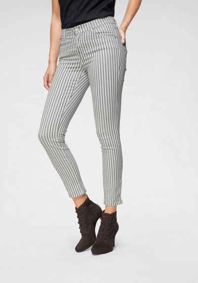65bae771452557 ANGELS Ankle-Jeans »Skinny Ankle Stripe« In neuem Streifen-Look mit  Reißverschluss