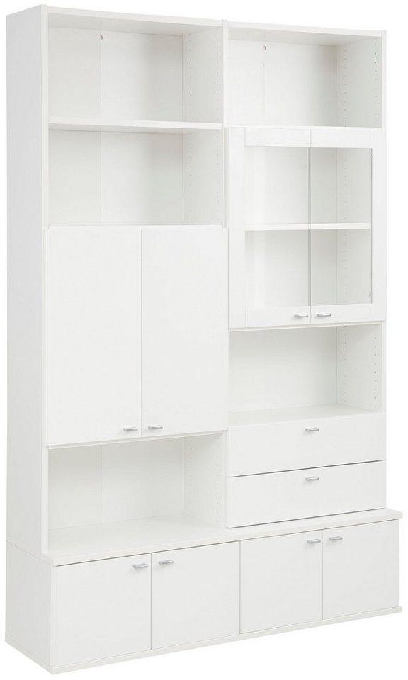 home affaire b cherregal dana mit 4 holzt ren gesamth he 217 cm online kaufen otto. Black Bedroom Furniture Sets. Home Design Ideas